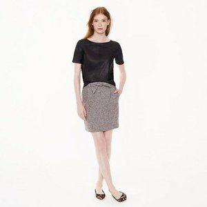 J Crew Tweed Tie Waist Skirt